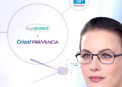 combinaison du traitement crizal prevencia et du materiau eps eye protect system pour lutter contre la lumiere bleue violet nocive des écrans